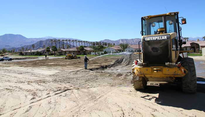 Phase 2 contruction at Stonefield Estates Indio