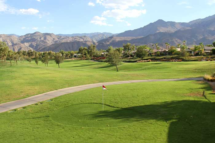 Golf course views from Bistro 60 La Quinta