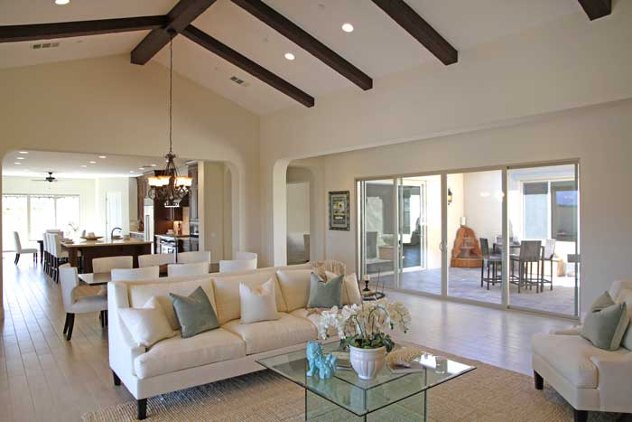 Stonefield Estates Indio model home great room