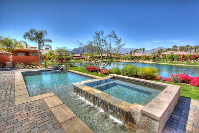 Palmilla waterfront homes in La Quinta, California