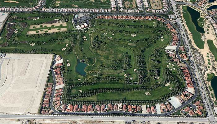 Aerial view of The Palms Golf Club, La Quinta California