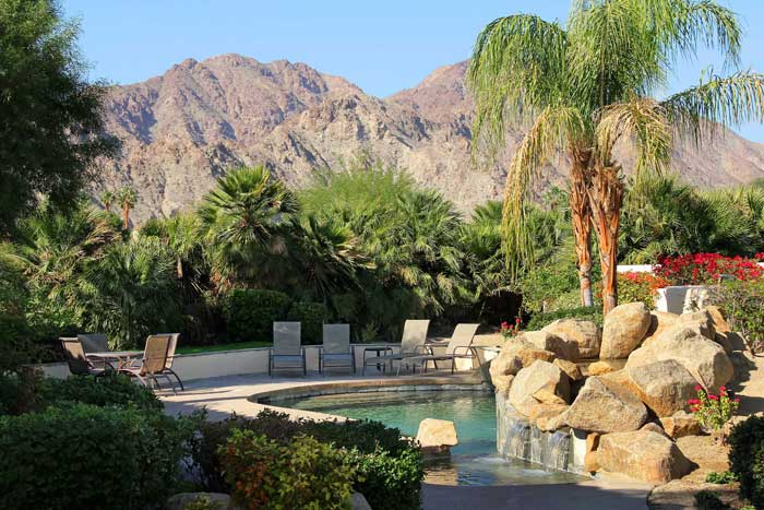 Pool area of luxury home at PGA West La Quinta