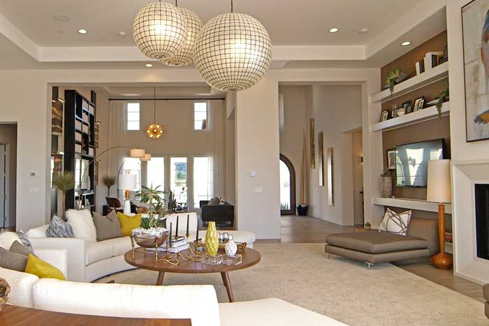 Andalusia La Quinta Santa Rosa Model Home Great Room