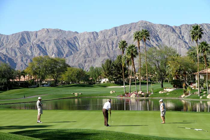 La Quinta golfers at Rancho La Quinta Country Club