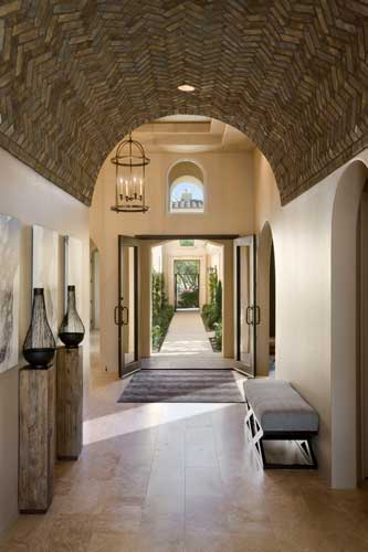entry of new home for sale at Andalusia La Quinta California