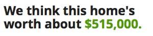 Trulia home price estimate
