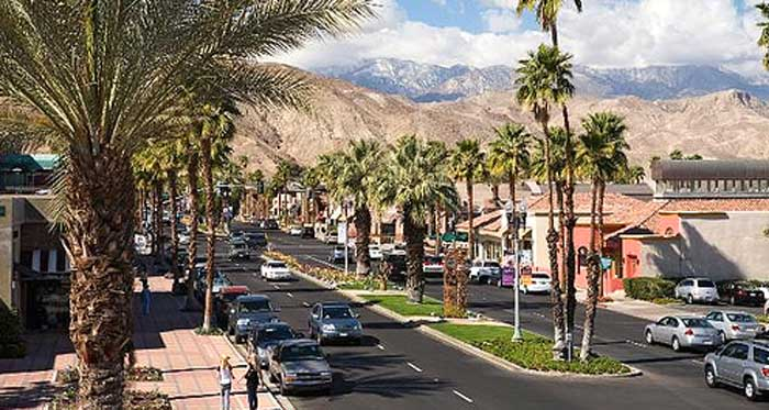 Palm Desert's El Paseo shopping district
