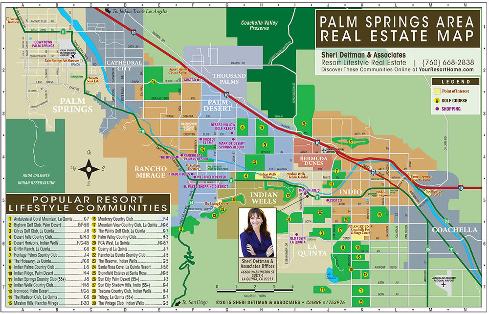 Palm Springs Real Estate Map