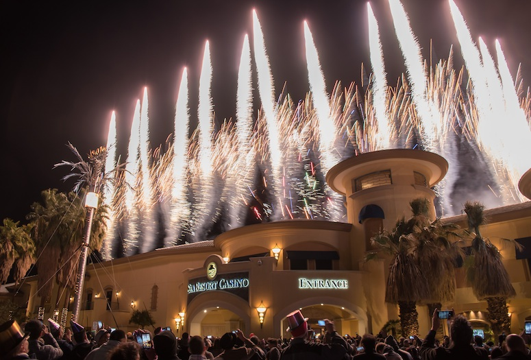 A spectacular fireworks show will greet 2017 as part of the Block Party at the Spa Resort Casino in downtown Palm Springs.   PHOTO COURTESY OF SPA RESORT CASINO