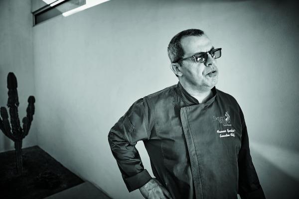 Chef Francois Gaertner strikes a pose.