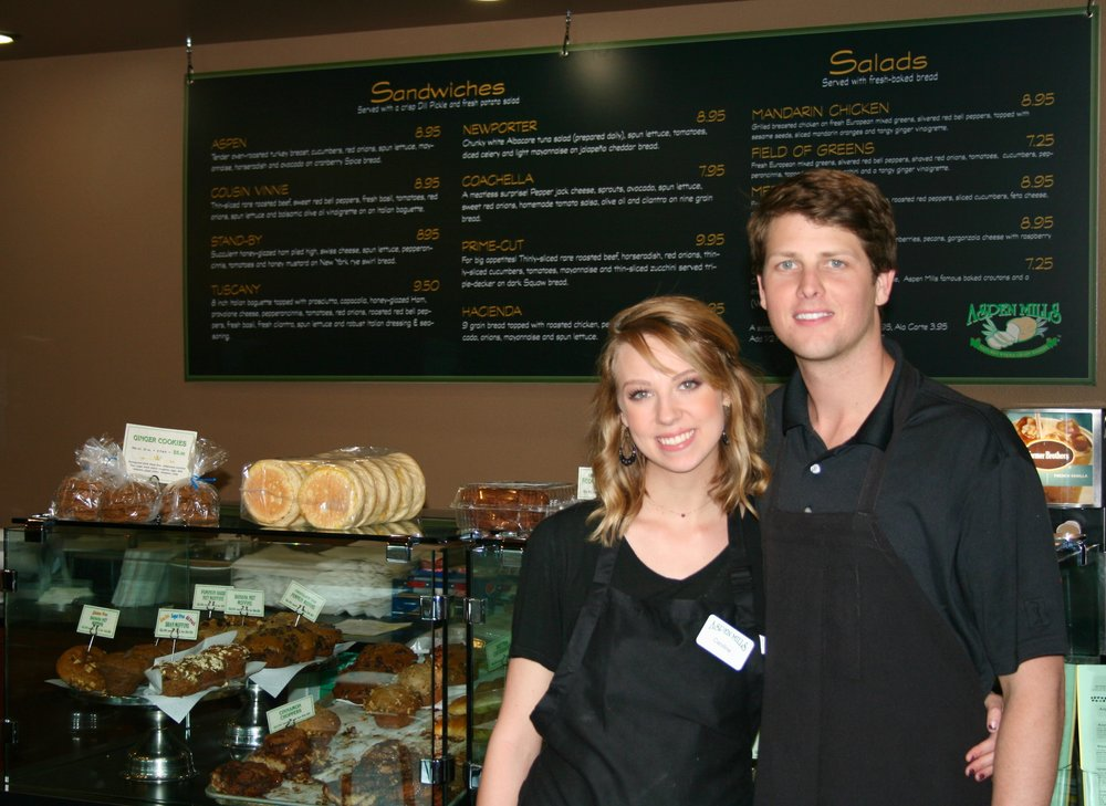 Tim & Caroline Stewart, Co-owners of Aspen Mills Bakery