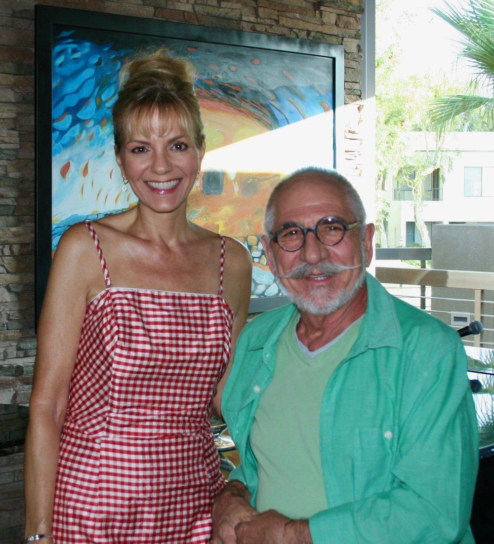 Sheri Dettman with Owner and Maitre d' Antoine Babai