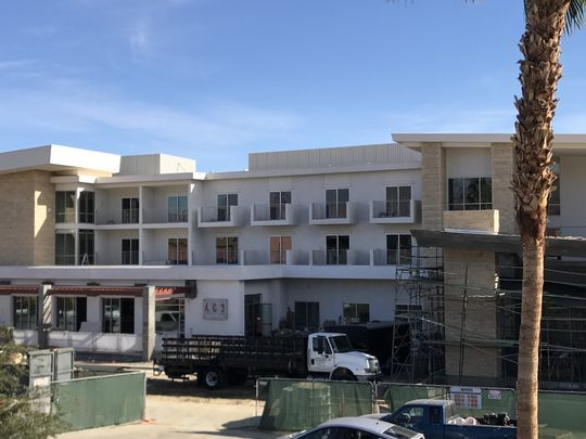 Construction continues at Hotel Paseo on Larkspur Lane in Palm Desert on Nov. 28, 2017. The 150-room boutique hotel is slated to open in January and will be the first for the upscale shopping district. (Photo: Sherry Barkas/The Desert Sun)