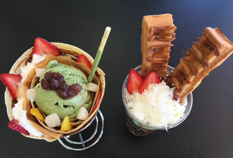 Dessert that tastes as perfect as it looks from Lala's Waffles Crepes & Shakes in Cathedral City. Creative flavors and whimsical presentation are trends that never go out of style.  PHOTOGRAPH BY TIFFANY CARTER