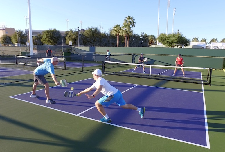 The 2018 Margaritaville USA Pickleball National Championships will involve players from the valley and take place at the Indian Wells Tennis Garden, Nov. 3-11.   PHOTOGRAPHS BY STEVEN SALISBURY