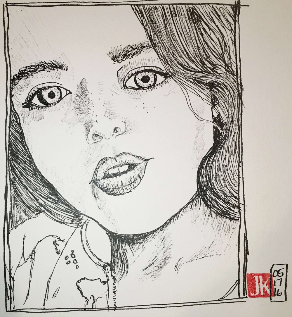 Marian Aureli - line drawing