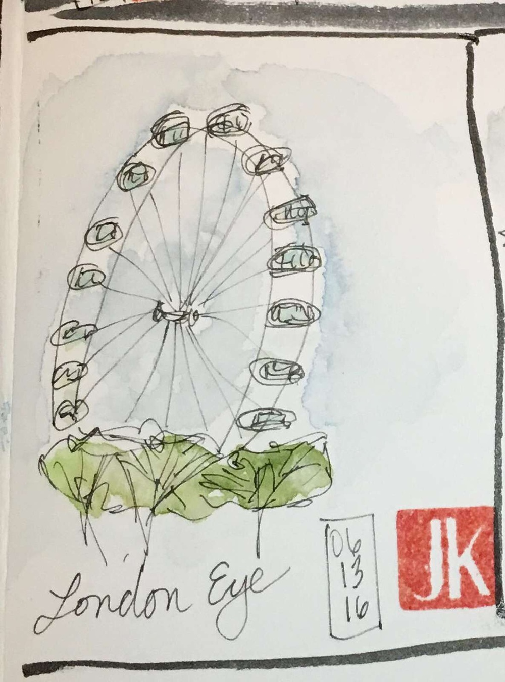 Quick sketch of the London Eye