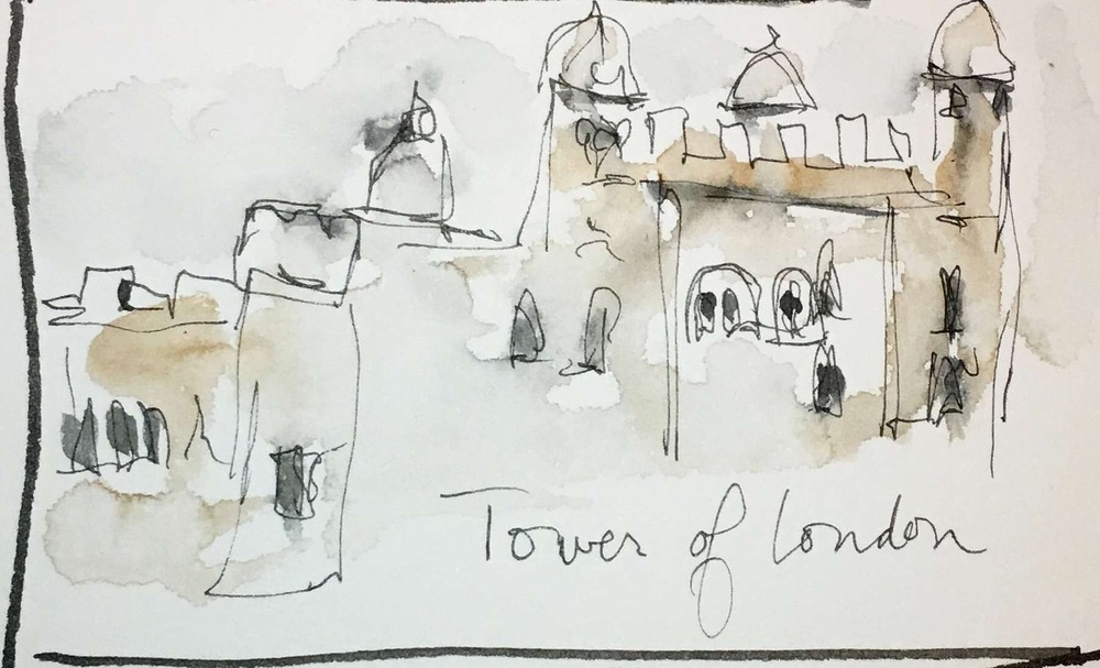 Quick sketch of the Tower of London