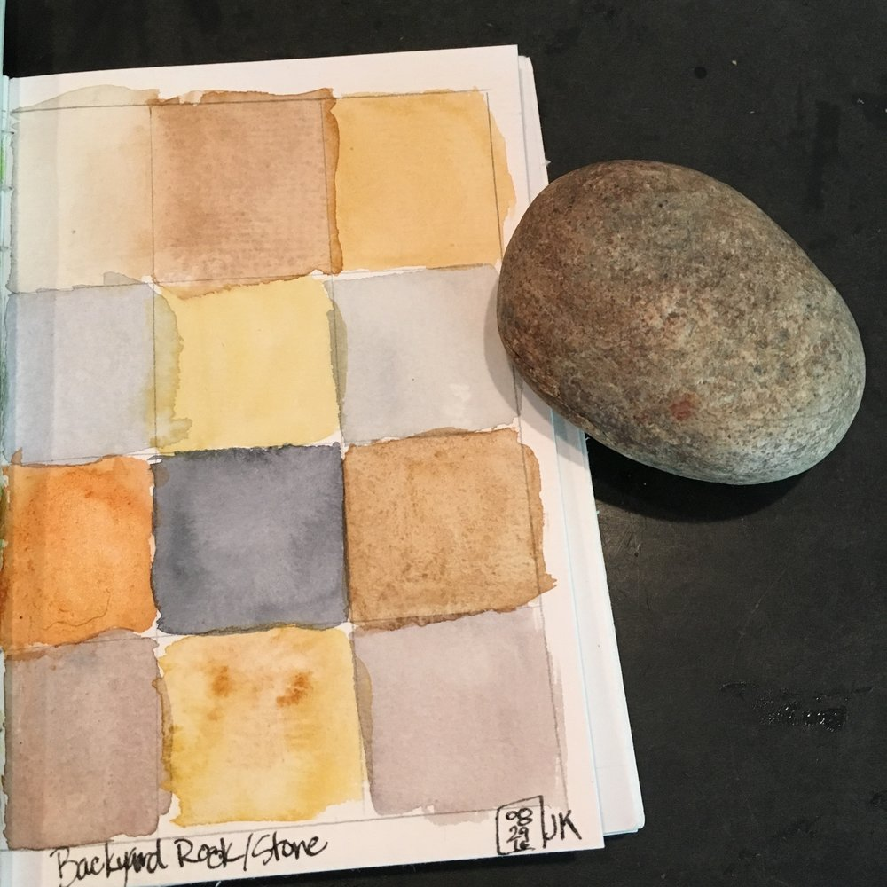 My backyard rock palette