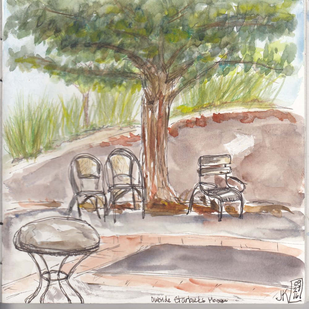 An outdoor view at Starbucks