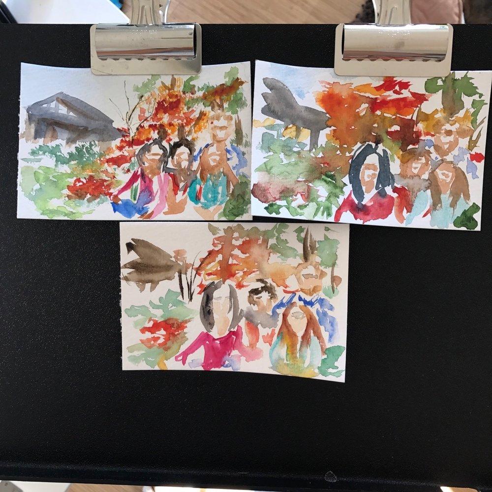 Watercolor thumbnails