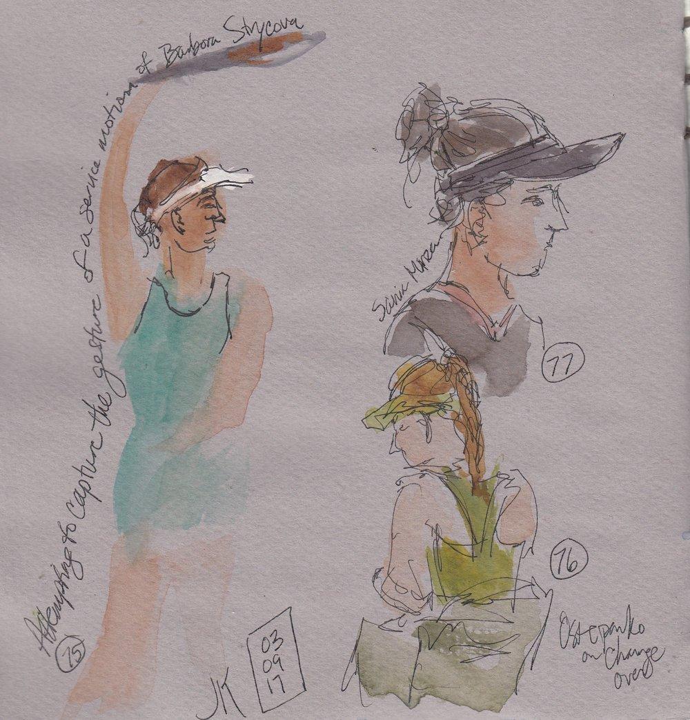 Nos. 75 - 77 - Barbora Strycova, Sania Mirza, and Jelena Ostapenko