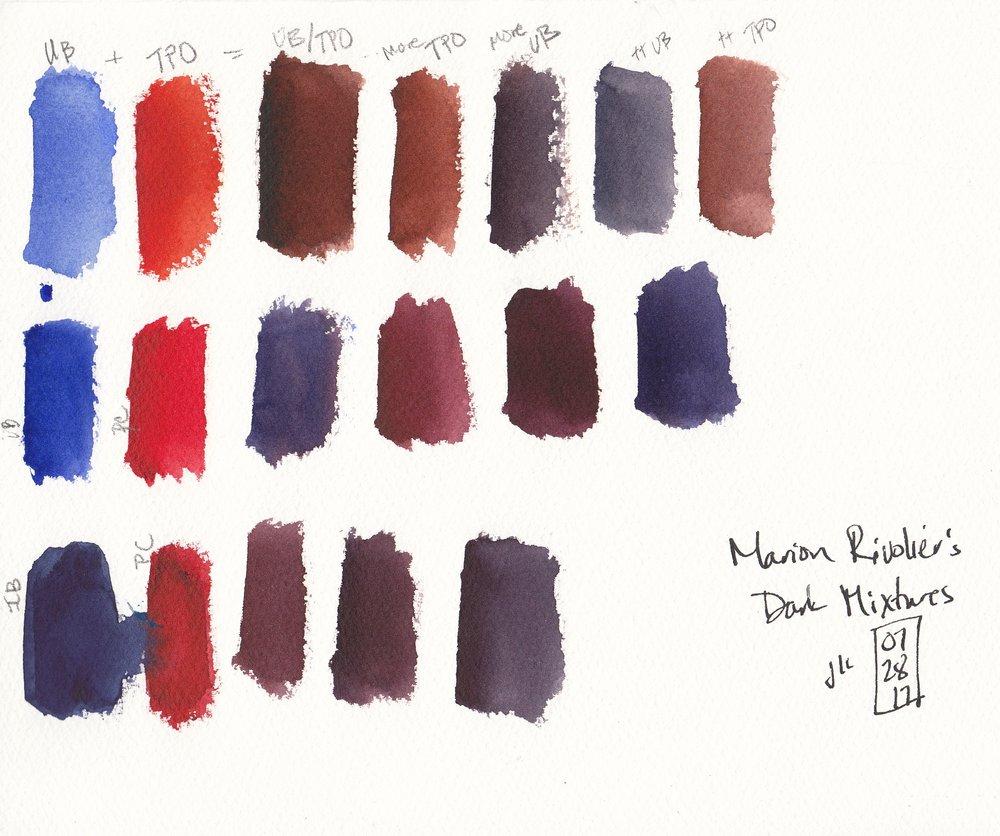 Dark color mixtures