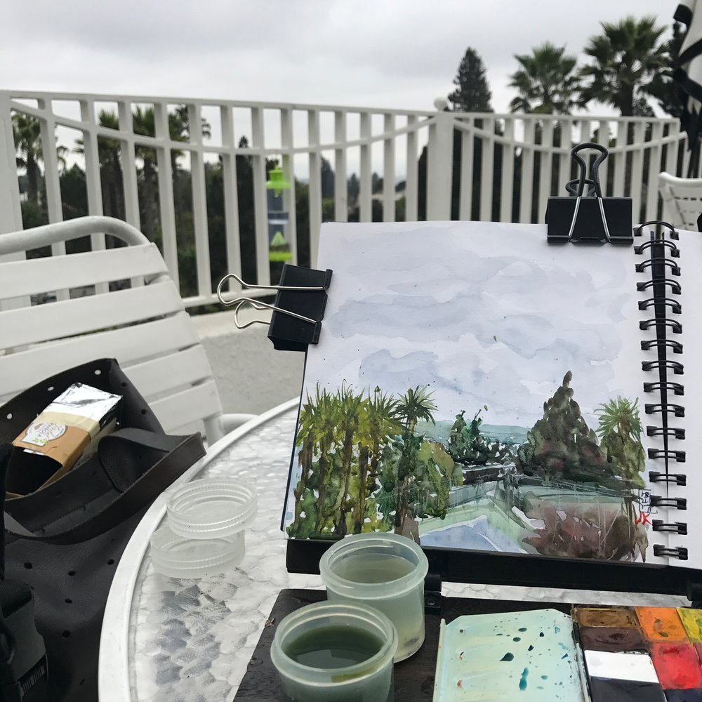 My sketching set up today