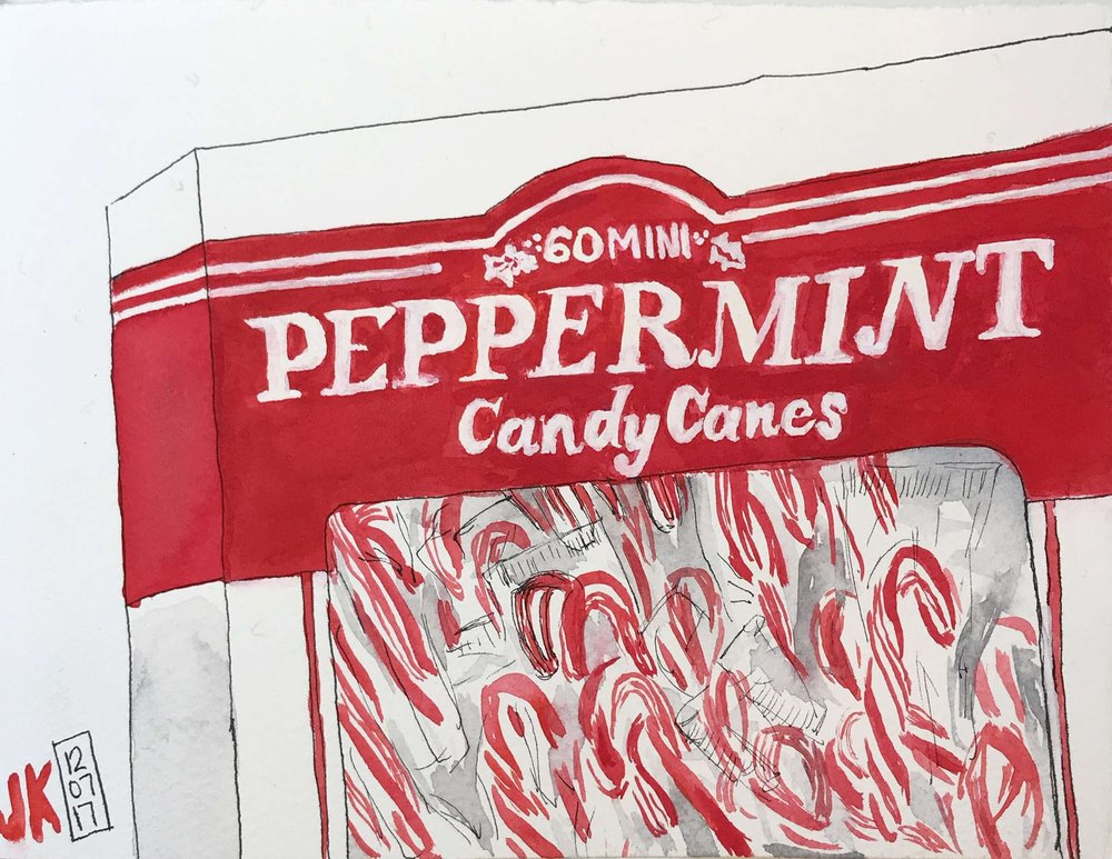 A box of candy canes