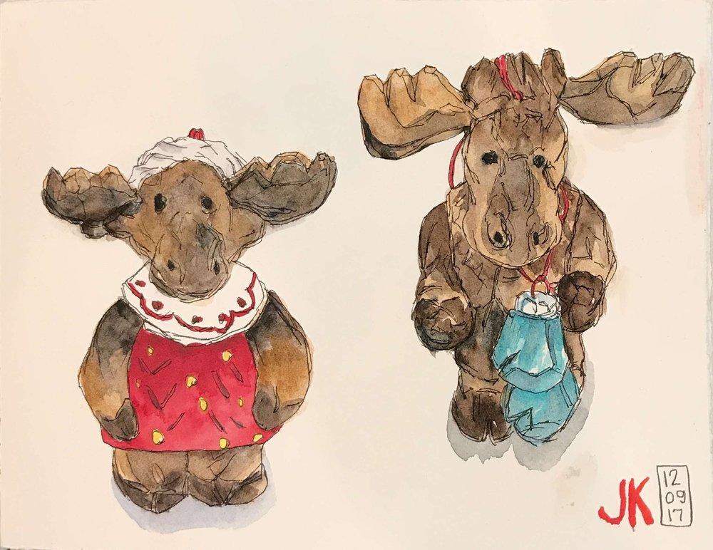 Moose ornaments