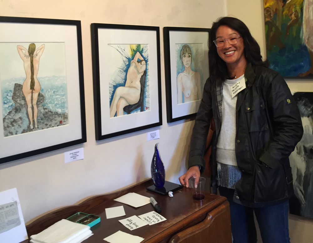 Exhibiting at the Nude, Not Naked art show at the ART Cottage in Concord, CA