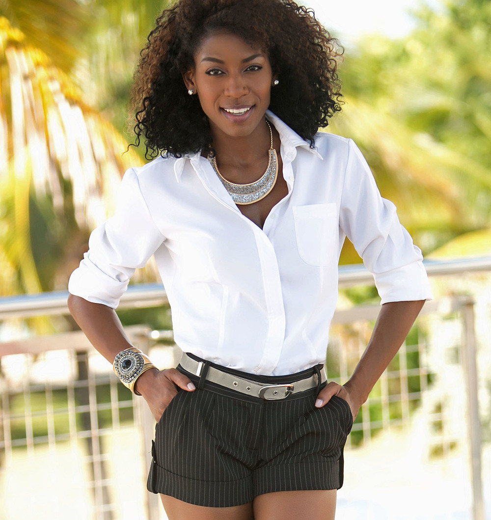 White Shirt And Pinstripe Shorts large.jpg