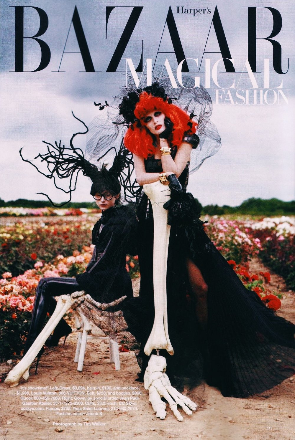 Image Details: 'Tim Burton's Tricks & Treats' Harper's Bazaar October 2009 | Photographed By: Tim Walker Image Source: The Year Of Halloween
