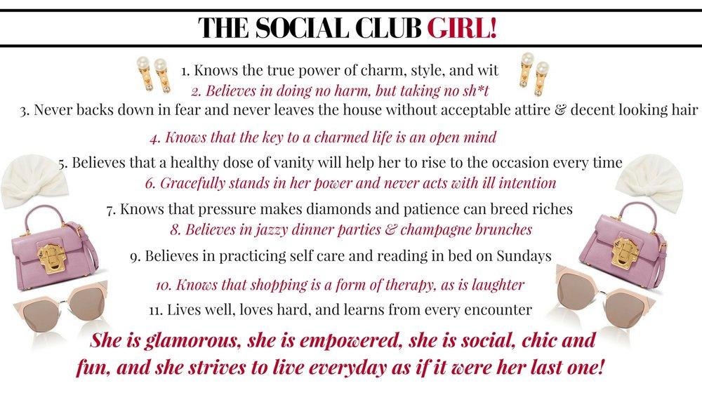 Darling Bonnie Social Club Girls