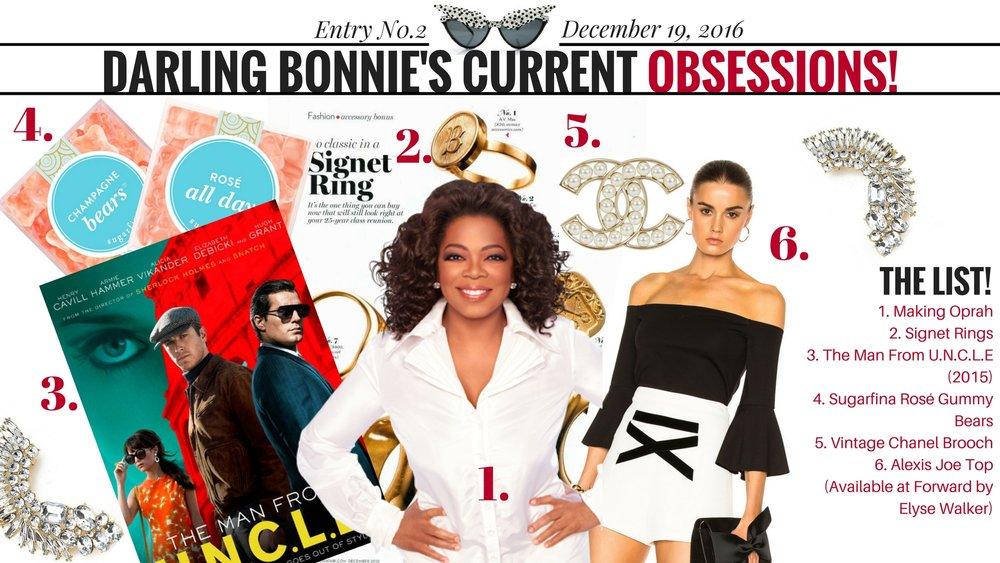 Darling Bonnie's Obsessions | 12/19/16