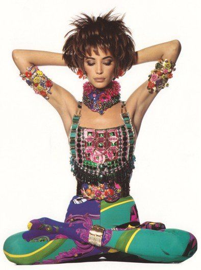 Image Details: Christy Turlington For Gianni Versace 1990 | Photog: Irving Penn