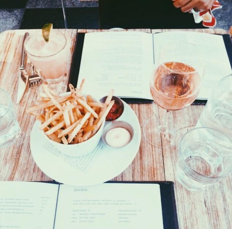 Truffle Fries & Rosé