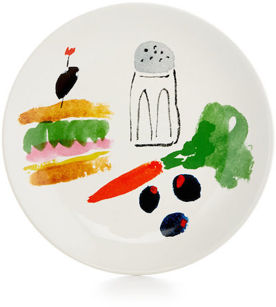 kate spade new york all in Good Taste Illustrated Coupe Sandwich Accent Plate | dbxco. buy yourself a gift shop