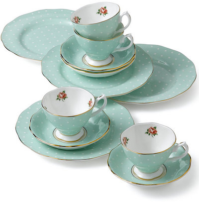 Royal Albert Polka Rose 12-Piece Set | dbxco buy yourself a gift shop