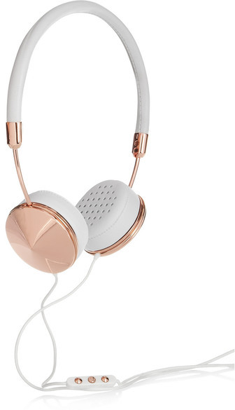 Frends - Layla Leather And Rose Gold-tone Headphones | dbxco. buy yourself a gift shop