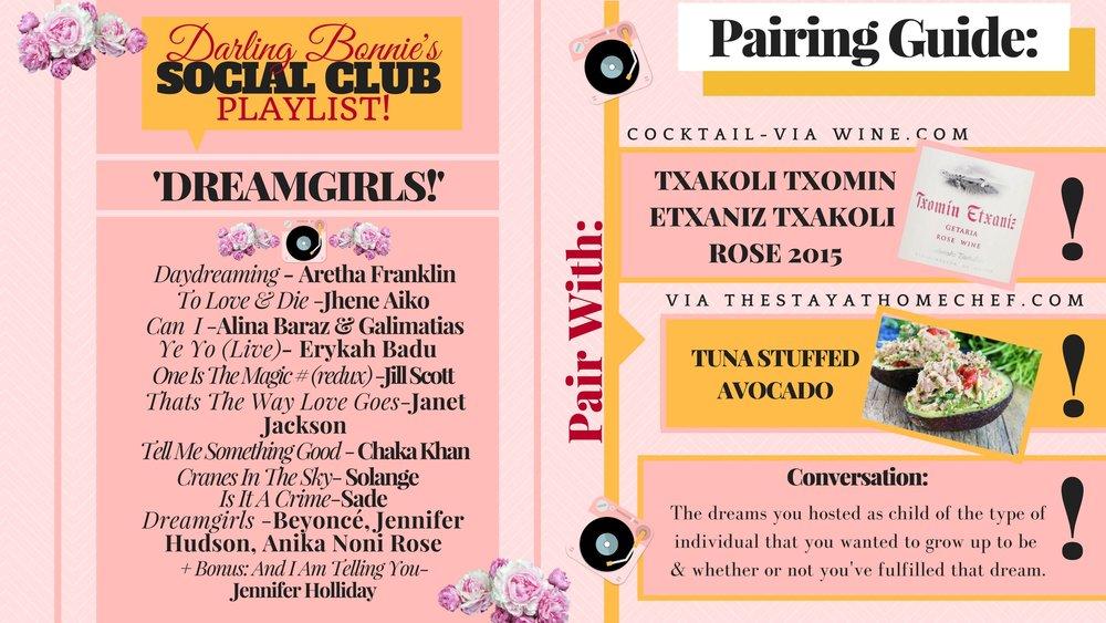 Darling Bonnie's Playlist Pairing Guide -- Dreamgirls.jpg