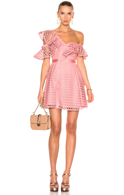 dbxco. dress up --- self-portrait Lace Frill Mini Dress