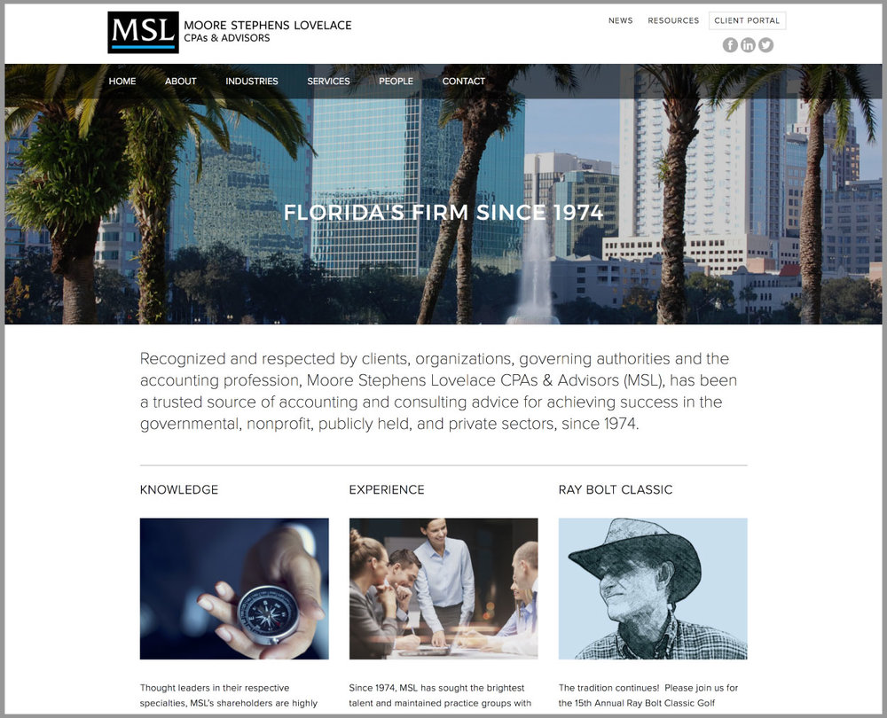 MSL CPAs and Advisors Website