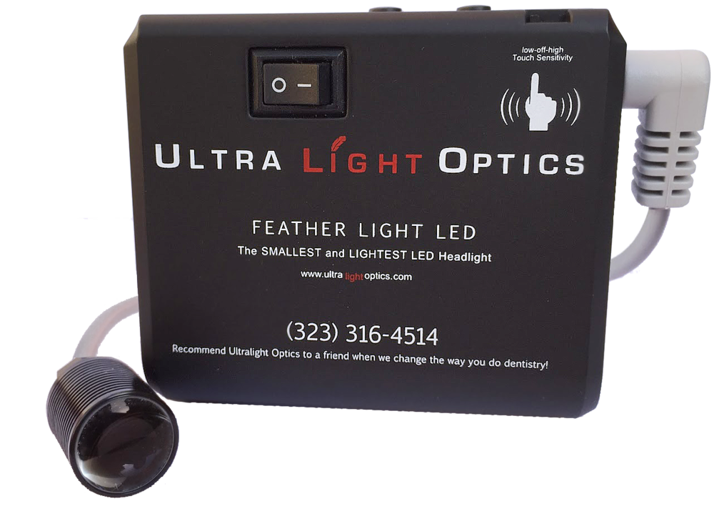 Feather Light by Ultralight Optics dental loupes light