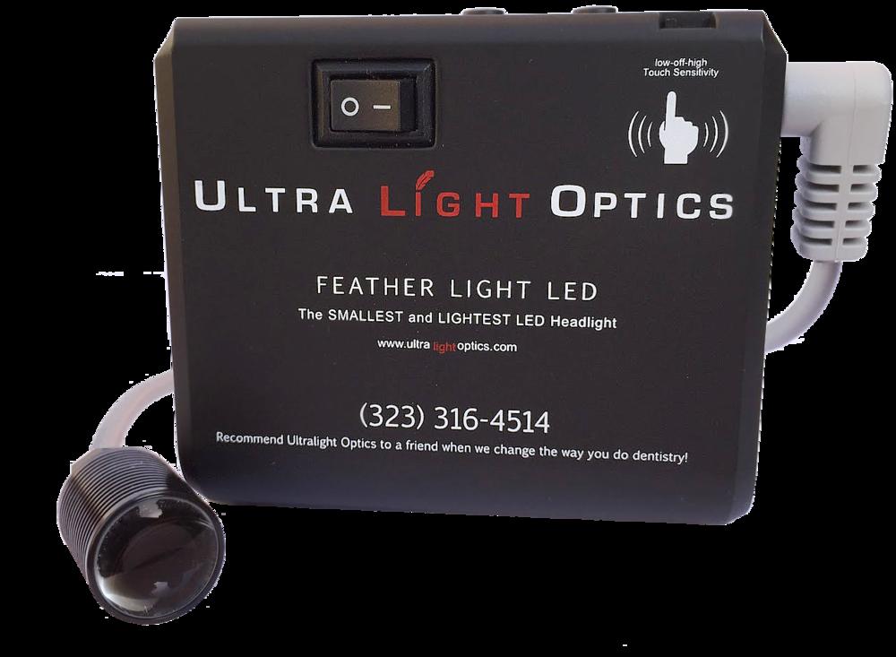 Feather Light by Ultralight Optics dental loupes light