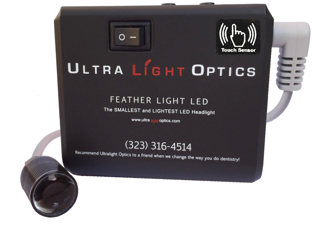 Feather Lite touch battery by Ultra Light Optics UK