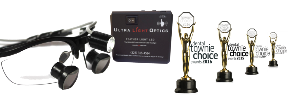Feather Light by Ultra Light Optics dental loupes light