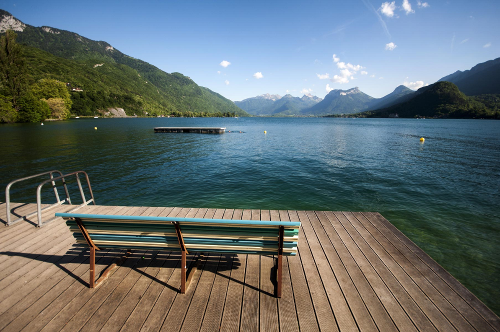 Community dock on Lake Annecy