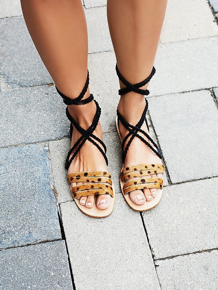 "cabin + cove Hemingway Wrap Sandal Ok, I'll be honest, I'm cheating a little on the ""wish list"" aspect of this post as I've already ordered these beauties. I can't resist anything leopard--in my opinion leopard print counts as a neutral! With animal print, you have to keep it classy though and these wrap sandals definitely do that. I love the ankle wrap trend as it makes the shoe so much more of a statement piece. I already plan to pair these with an LBD for date night!"