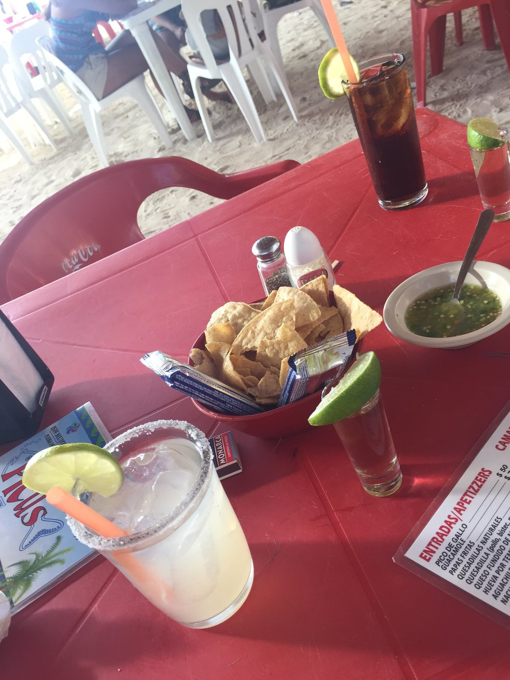 Our best food was off resort, on Isla Mujeres.